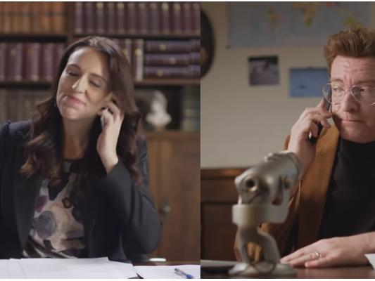 新西兰总理出演搞笑短片,为本土旅游做推广代言